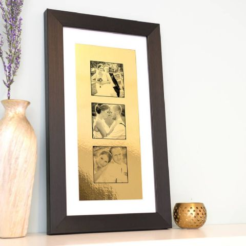 Personalised Framed Metallic Gold Photo Collection